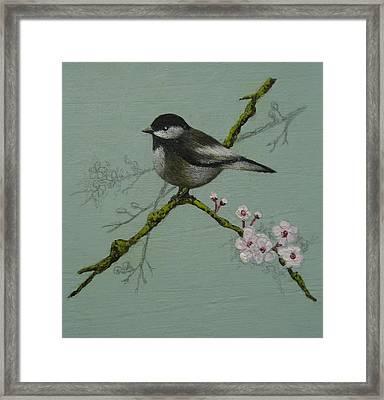 Chickadee Framed Print by Victoria Heryet