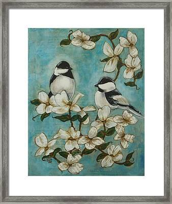 Chickadees Framed Print by Regina Mailloux