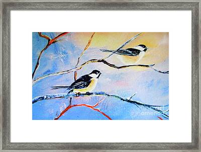 Black-capped Chickadees Limited Edition Prints 2-20 Set Decor In Wanderlust  Framed Print