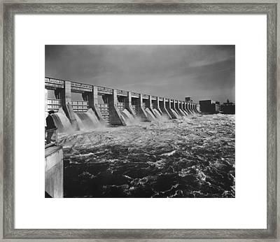Chickamauga Dam Spillway Was Built Framed Print