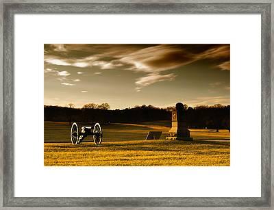 Chickamauga Sunset Framed Print by Violet Clark