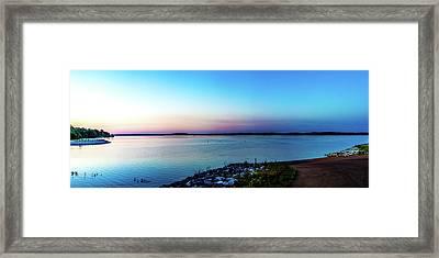 Chickasaw Landing Panorama Framed Print by Barry Jones