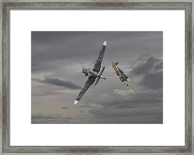 Chicken 2   Me 109 And Spitfire Framed Print