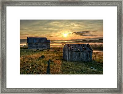 Chicken Creek Schoolhouse Framed Print