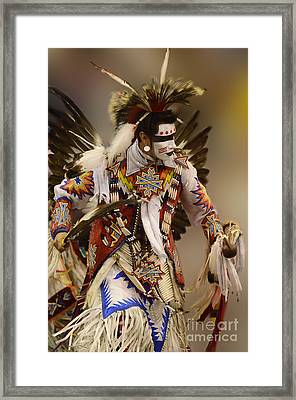 Pow Wow Chicken Dancer 12 Framed Print by Bob Christopher