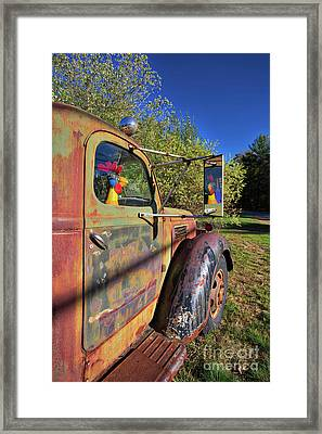 Framed Print featuring the photograph Chicken Driver by Edward Fielding