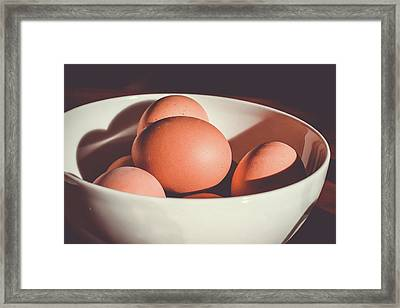 Chicken Eggs Framed Print by Happy Home Artistry