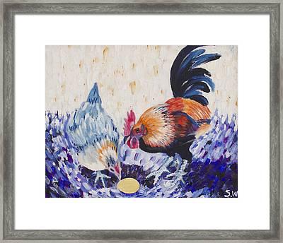 Chicken Family Framed Print