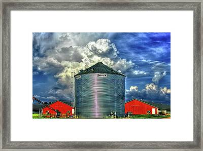 Chicken Feed Other Worldly Sky Art Framed Print by Reid Callaway