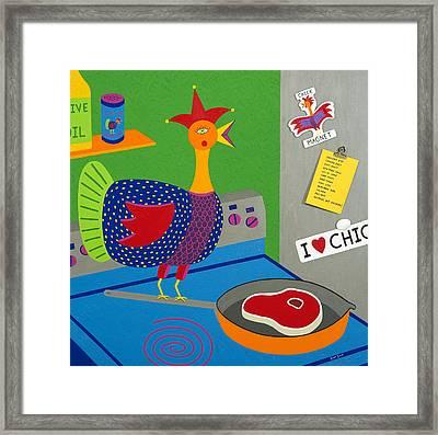 Chicken Fried Steak Framed Print by Kort Duce