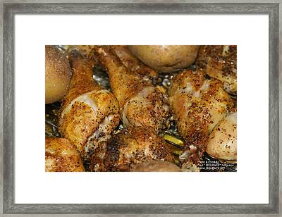Chicken On The Grill Framed Print