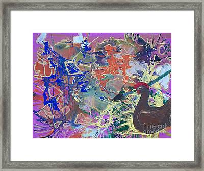 Chicken Scratch Framed Print by Seaux-N-Seau Soileau