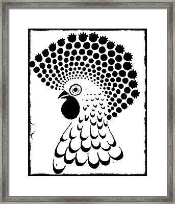 Chicken Tattoo  Framed Print by Paulo Zerbato