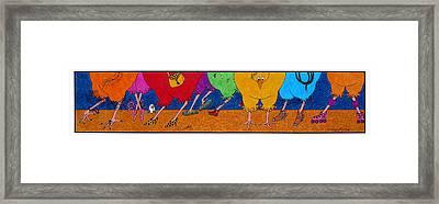 Chicken Walk Framed Print by Michele Sleight