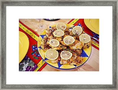 Chicken With Lemon Framed Print