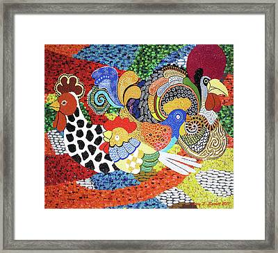 Chickens Framed Print by Jerry L Barrett