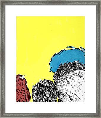 Framed Print featuring the painting Chickens One by Jason Tricktop Matthews