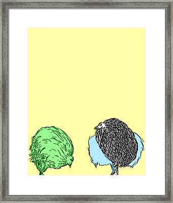 Framed Print featuring the painting Chickens Three by Jason Tricktop Matthews