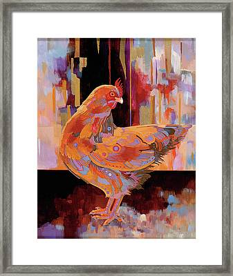 Chickenscape I Framed Print by Bob Coonts