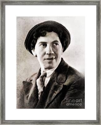 Chico Marx, Hollywood Legend Framed Print