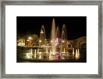 Chico Plaza Framed Print
