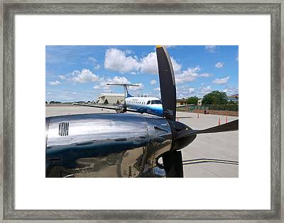 Chico United Express Runway Framed Print