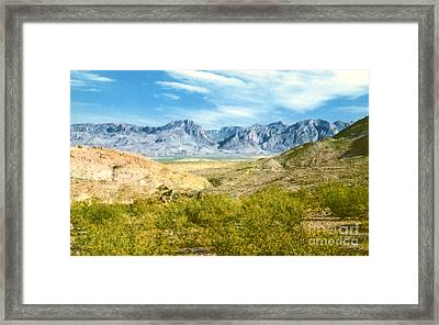 Chicos Mountains  Framed Print by Ruth  Housley