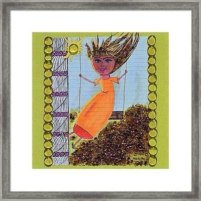 Childish Abandon Framed Print by Donna Blackhall