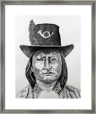 Chief Bird-arapahoe Framed Print by Stan Hamilton