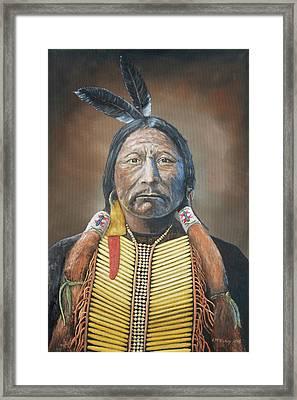 Chief Buckskin Charley Framed Print by Jerry McElroy