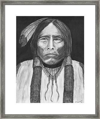 Chief Crazy Horse Framed Print by Bob Schmidt