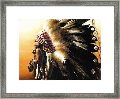 Chief Framed Print by Greg Olsen