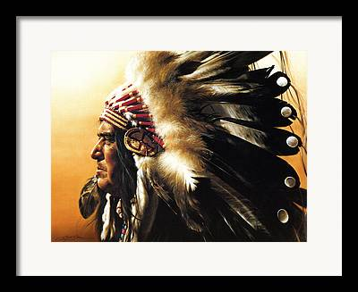 Indians Paintings Framed Prints
