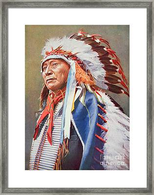 Chief Hollow Horn Bear Framed Print