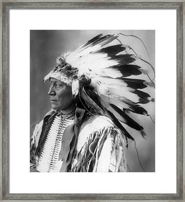 Chief Hollow Horn Bear Framed Print by Frank Rinehart
