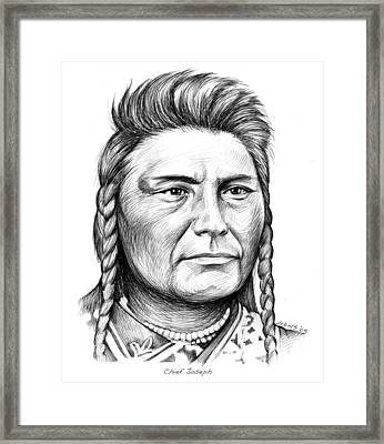 Chief Joseph Framed Print by Greg Joens