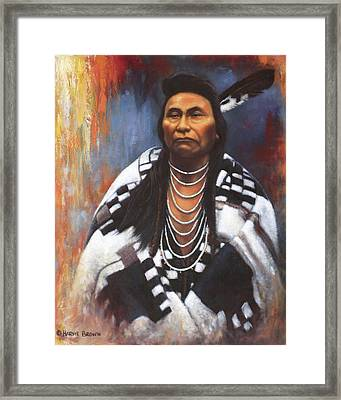 Chief Joseph Framed Print by Harvie Brown