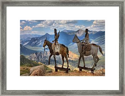 Chief Joseph In The Absekora Wilderness Framed Print by Adam Jewell