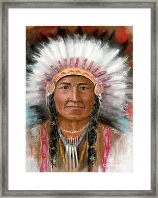 Chief Joseph Framed Print by John De Young