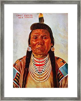 Chief Joseph, Nez Perc� Chief Framed Print by Everett