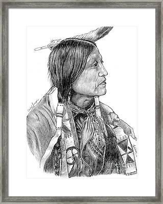 Chief Joseph Of Nes Perce Framed Print by Bill Hubbard