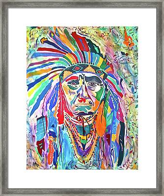 Chief Joseph Of The Nez Perce Framed Print