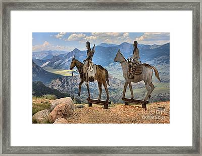 Chief Joseph On A Horse Framed Print by Adam Jewell