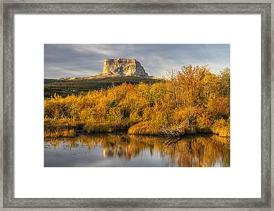 Chief Mountain Autumn Framed Print by Mark Kiver