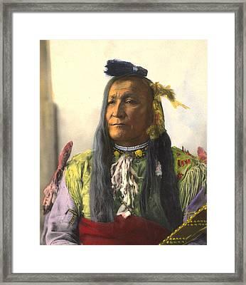 Chief Mountain, Blackfeet Framed Print by Frank A Rinehart