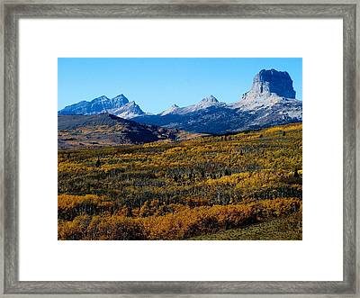 Chief Mountain In The Fall Framed Print