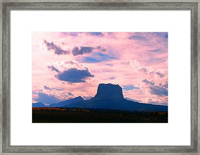Chief Mountain, Pastel Framed Print