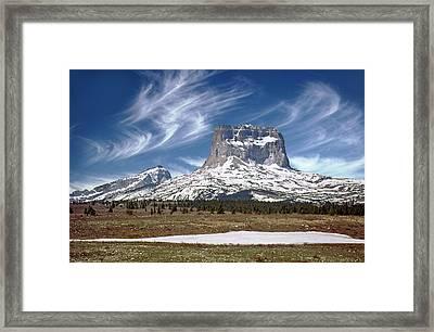 Chief Mountain Framed Print by Rod Jones