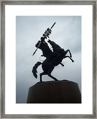 Chief Osceola Statue Framed Print by Warren Thompson