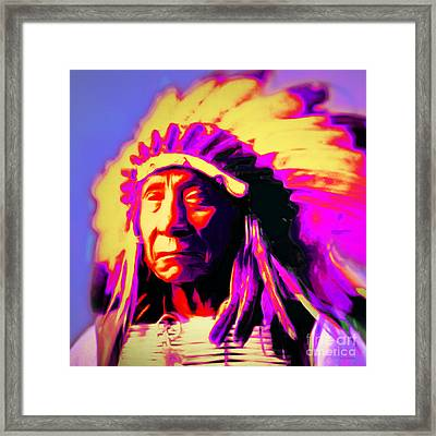 Chief Red Cloud 20151230 Square Framed Print by Wingsdomain Art and Photography